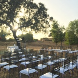 Ceremonia en exteriores junto al pantano